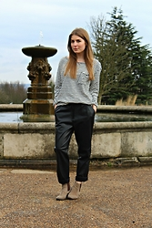 Angharad Jones - Zara Top, Zara Trousers, Kurt Geiger Boots - Breton