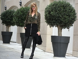 Nina Papaioannou TRENDSURVIVOR - Strategia Over The Knee Boots, Isabel Marant Blouse, Acne Studios Leather Skirt - Wild days