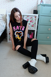 Amelia Breading - Blindyouth Clothing Pony Tee - PONY IN HATE