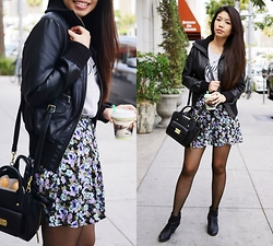 Josephine Ellen - Piperlime Jacket, Forever 21 Top, Forever 21 Skirt - Winter Florals