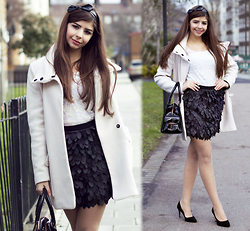 Reneta Kanevska - New Look Top, Rare Skirt, Zara Coat, Ted Baker Bag, Asos Shoes - Rare