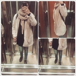 Katerina Sf - Pull & Bear - Sheep coat!