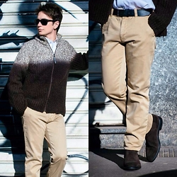Raffaele P. - Giorgio Armani Sweater, Brooks Brothers Shirt, Ray Ban Sunglasses, Levi's® Trousers, J.Holbens Shoes, Tod's Belt - An outfit a day...