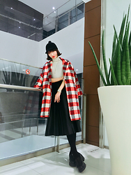 MOORE HO - Monki Hat, A:Le Coat, A:Le Skirt, Asos Shoes, Coach Watch - YOU'RE MORE THAN A SHADOW