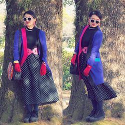 Kanaho Morris - Zerouv Trendy Womens Designer Block Cut Pattern Sunglasses 9156, Givenchy Gloves, Handmade Kanaho! Accessories - Feb 8,2015 zeroUV sunglasses