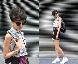 ALULU - Vans Shoes, Forever 21 Sunglasses, Zara Denim, Forever 21 Bag -