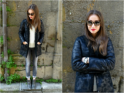 Melina Vou - Mango Jacket, Asos Ankle Boots, Burberry Sunnies - Old Town Hangs