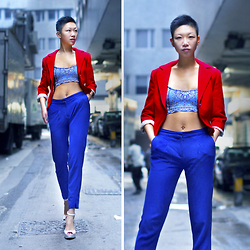 Yaki Man - Banana Republic Blazer, Topshop Top, H&M Pants, Melisa High Heels - Rocking the contrast in the alley
