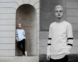 Patrick Pankalla - Cos Sweatshirt, Stroem Long Tee, Weekday Trousers, Opening Ceremony Slip On Sneakers - Back, There, Again