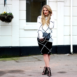 Charlotte C - Missguided Jumper, Missguided Skirt - Valentines with Missguided