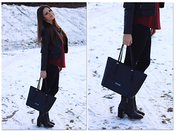 Alves Elodie - Guess? Bags, Zara Boots, H&M Vests - Snow
