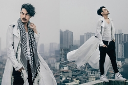 Thanh Truong - Ttl Long Coat, B21 Jogger Pant, Adidas Sneaker, Zara Scarf - FLOW with the WIND