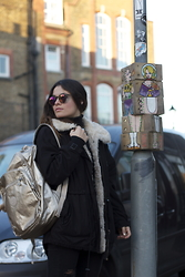 Claudia - Kyme Sunglasses, Kipling Bag, Zara Jacket - A day in London