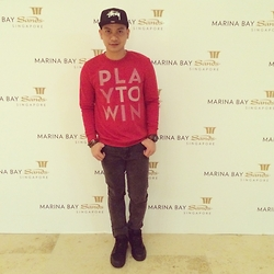 DADA FAB - Stüssy Cap, H&M Red Pullover, Factorie Denim Pants, Nike Black Shoes - PLAY TO WIN