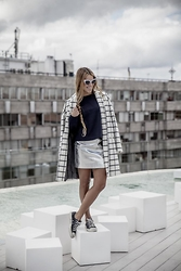 Drifting Nomad - River Island Coat, River Island Skirt, Converse Shoes - Opposites Attract