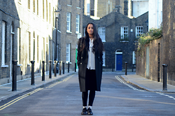 Alida Leclercq - & Other Stories Coat, & Other Stories Top, Cheap Monday Jeans, Adidas Stan Smith X Addidas - Simple Needs