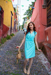 Xy - Banana Republic Blue Dress - Spanish China