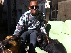 A M - Asos Sunnies, H&M Sweater, Topman Trouser - With my doggies, flower on fleek