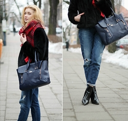 Martyna Lupa - Manzanna, Second Hand, Labotti, H&M, H&M - Beloved boyfriends and faux fur