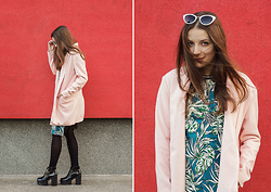 Emma Istvanffy - Sheinside Blazer, Elite99 Dress, Blackfive Boots, Zerouv Sunglasses - Warm Blazer Or Spring Coat?