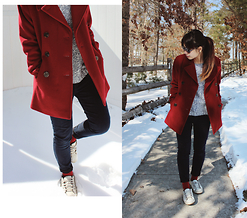 Teresa Vu - Calvin Klein Peacoat, Aeropostale Knitted Pullover, Lacoste Sneakers - Back to the Ordinary