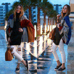 Coco Bolinho - Chic Wish Scarf, Sheinside Sweater, Zara Bag, Sperry Top Sider Shoes - Put your lights on