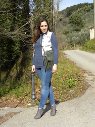 Angelica Giannini - Zara Jeans, Only Gilet - Blue jeans e tacchi alti