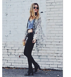 Kirby C - Free People Kimono, Free People Top, Free People Jeans, Isabel Marant Ankle Boots, Ray Ban Sunglasses - Spring Fever