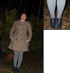 Selina M - Swapped Tweed Style Coat, Oak Hamble Brogues - The Sherlock coat