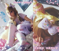 Candy Hashi - Angelic Pretty Shy Bear, Cute Can Kill Bear On Moon - Fairy Kei