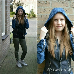 Amy Ringoir - Palladium Boots, H&M Pants, Asos Jacket, Oozoo Watch - Denim Leather