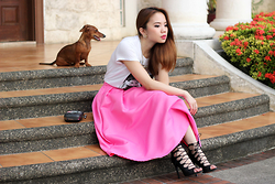 Stephanie D - Pinkaholic Puff Skirt - Pinks