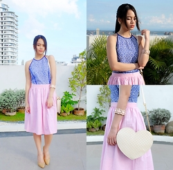 Zaira Chan - Just G Dress (Worn As Top), What A Girl Wants Skirt, Das Heels, Abby Jocson Bag - Courtney