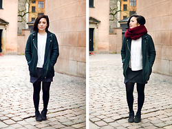 Yin Pang - Monki Jacket, H&M Sweater, H&M Skirt - Never mess with Sunday