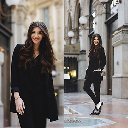 Larisa Costea - Jessica Buurman Oxfords - Milano Fashion Week Day 2