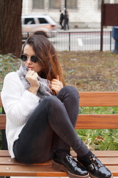 Claudia - Zara Jeans, Office Shoes - Sunny winter day
