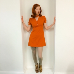 Pip Jolley - Vintage 60s Dress, Topshop Leopard Boots - Twenty four