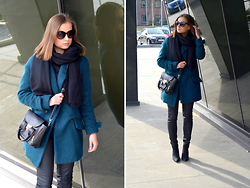 Paulina -  - TURQUOISE COAT FROM SALE