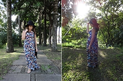 Karen Bartolomeu - C&A Maxi Dress, Choies Floppy Hat - Boho Chic - maxi dress and floppy hat