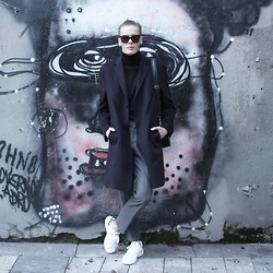 Martijn Maagdenberg - Céline Sunglasses, Tom Ford Sweater, Hugo Boss Coat, Asos Trousers, Adidas Shoes, Bimba Y Lola Bag - Untitled #21