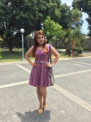 Nancy Drew - Candies Dress, Forever 21 Belt, Janylin High Heeled Shoes - Summer's Gonna Be Colorful