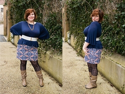 Ninaah Bulles - Primark Top, Balsamik Skirt, New Look Boots - In the blue mood