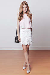 Tricia Gosingtian - Kate Katy Skirt, Apartment 8 Top, Kate Spade Bag, The Sm Store Heels - 030815