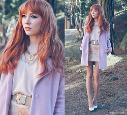 Erika Henell - Bikbok Coat, Glitter Necklace - Little darling, it's been a long cold lonely winter.