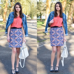 Audrey - Balsamik Skirt, Vero Moda Shirt, Vero Moda Denim, Primark Bag, Brandy Melville Usa Necklace - Women day