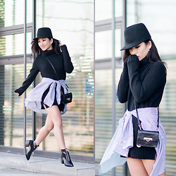 Fiveftwo - Esprit Sweater Dress, Zara Blouse, Nelly Shoes, Monki Hat, Dkny Bag - Wrap around