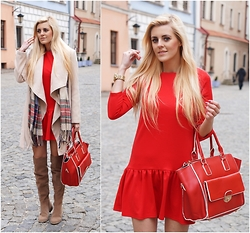 Estelle Fashion - Preska Dress, Labotti Shoes, Lavaii Bag - Red dress