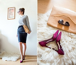 Viktoria Vasilenko - Forever 21 Skirt, Zara Clutch, Forever 21 Shoes - Teacher look