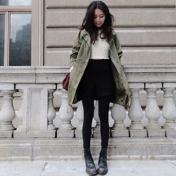 Aliya A - Somemoment Parka, Dr. Martens Boots - My Spring Soul