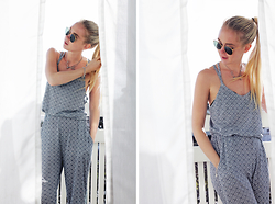 Nathalie R - Rut&Circle Top, Rut&Circle Pants, Ray Ban Sunglasses - In love with the sun